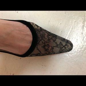 Christian Louboutin Shoes - Christian Louboutin black velvet  & lace pumps